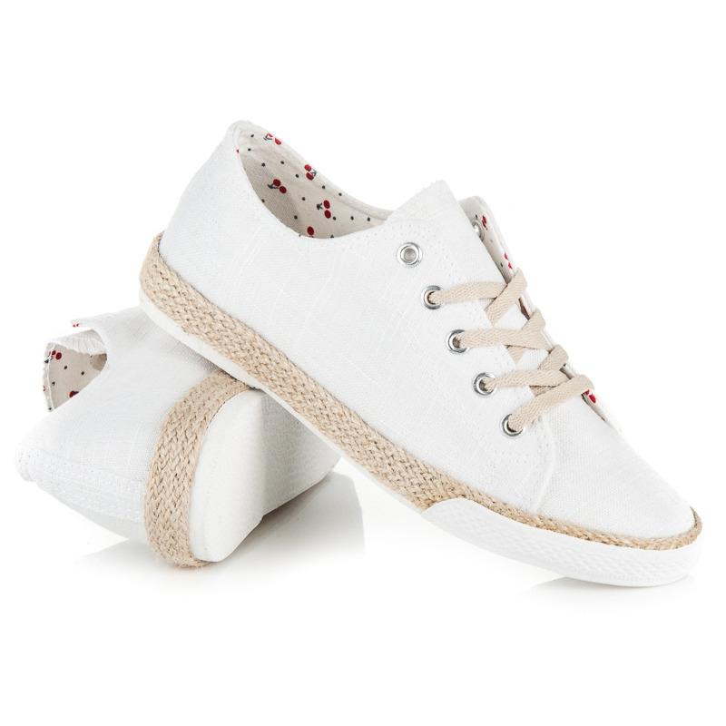 ... Moderné biele tenisky s kvetmi 51954b23c59
