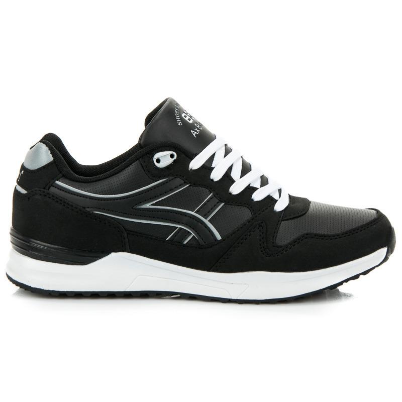 ccccfe3414ce2 Moderné pánske športové tenisky v čiernej farbe | AMIATEX.sk