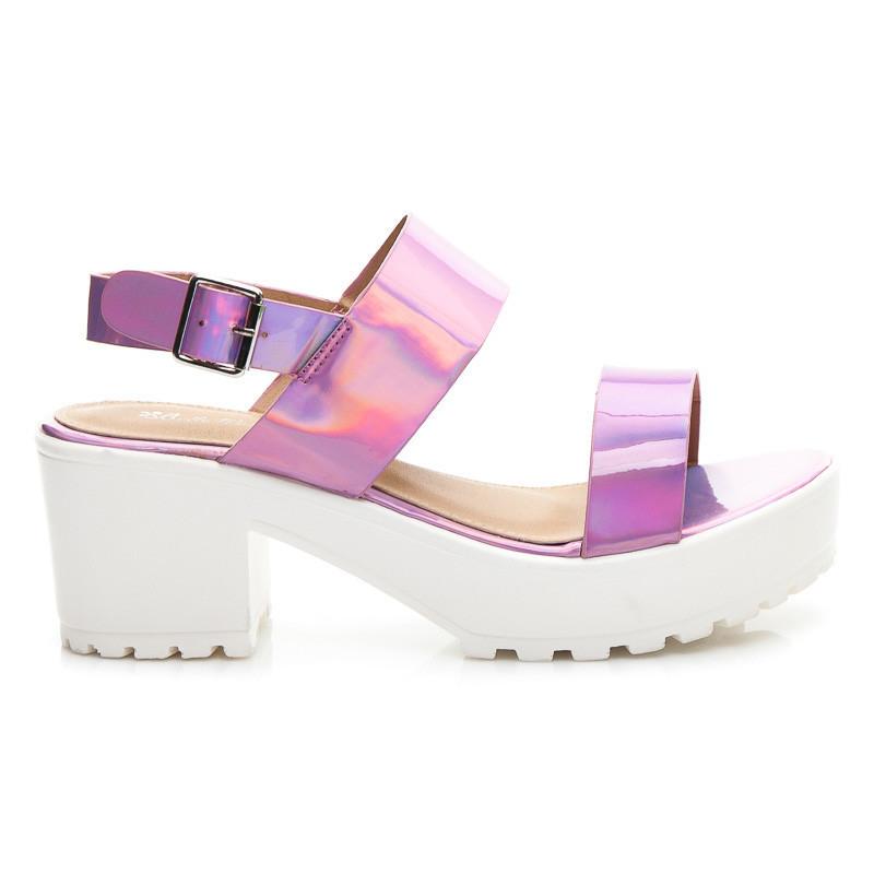 1138a1c0cb77 Moderné ružové dámske sandále