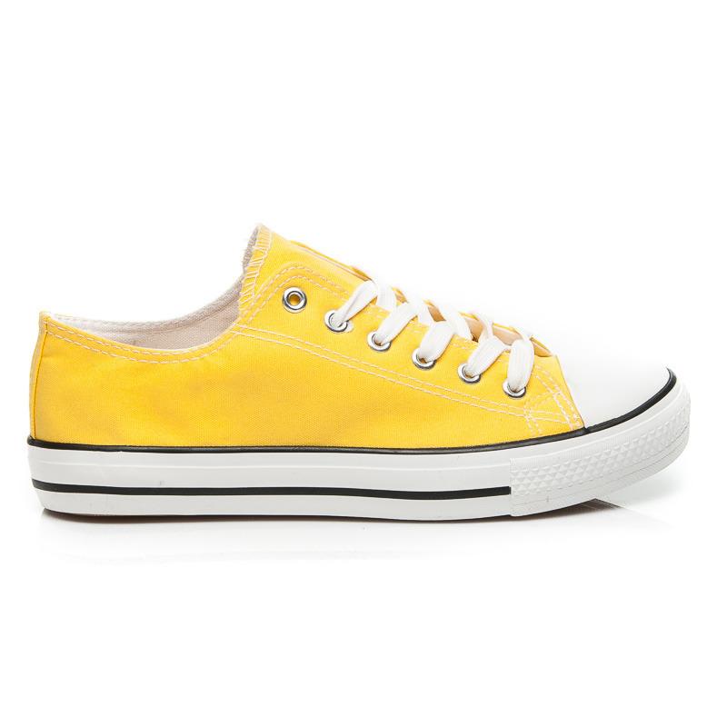 c5cc55ce21 Moderné žlté dámske tenisky