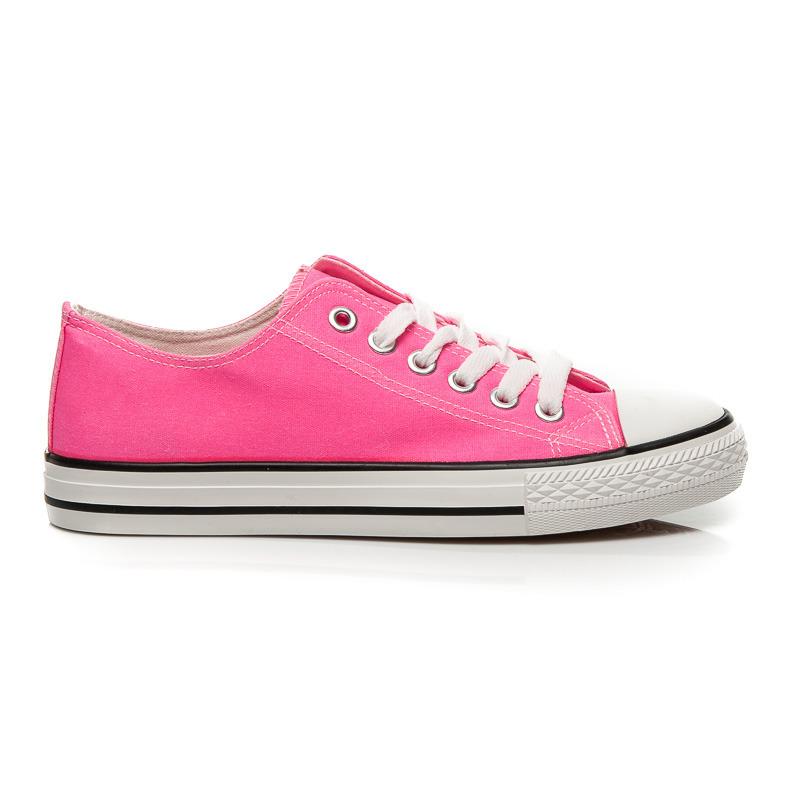 Moderní růžové dámské tenisky