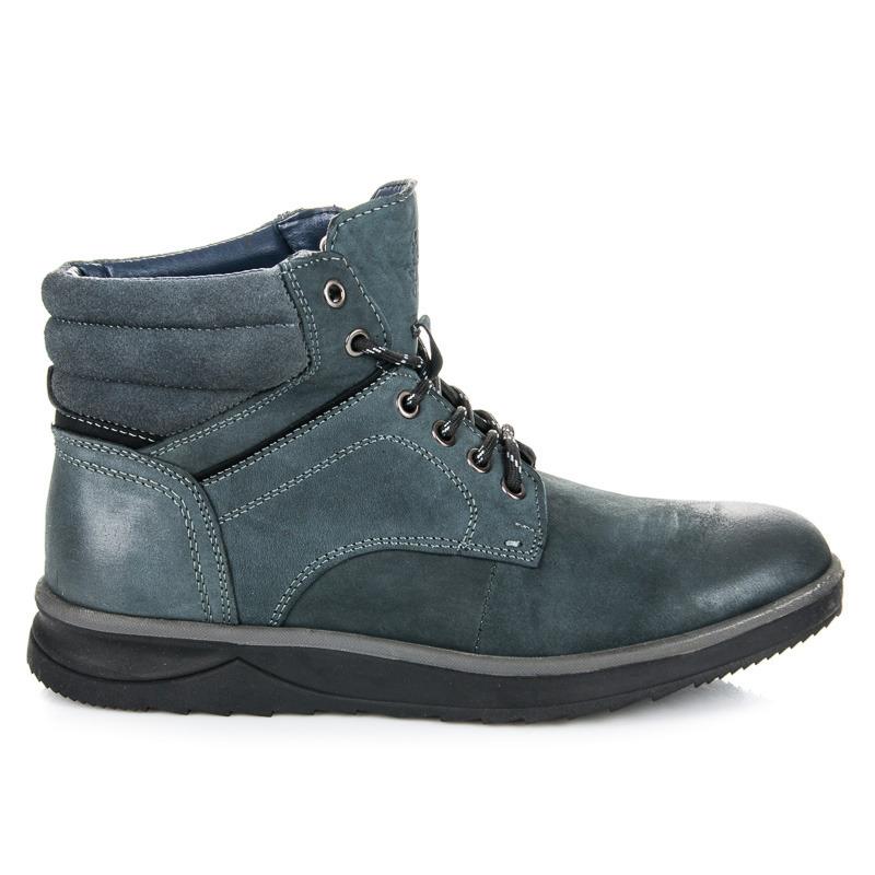 ffec593a2e059 Módne modré pánske členkové topánky so šnurovaním   AMIATEX.sk