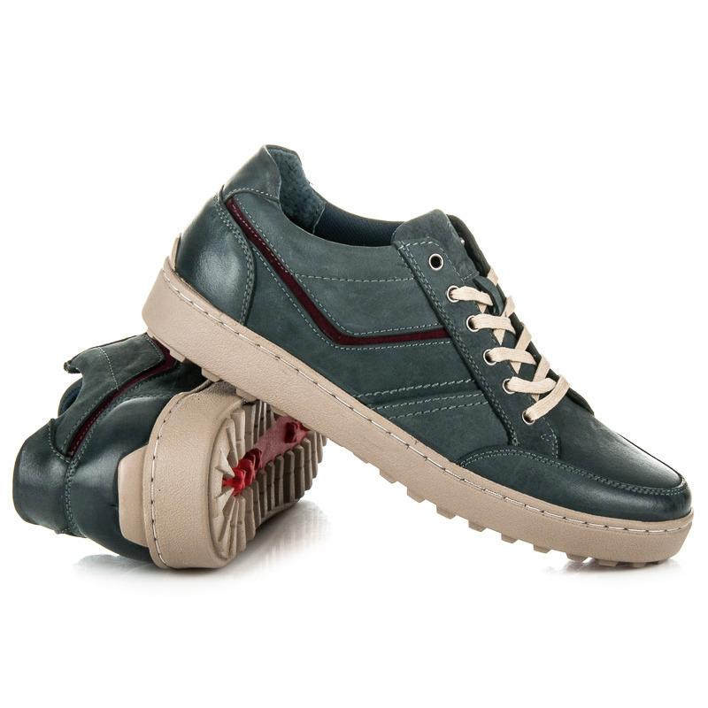 4388a3c9b897 Módne modré pánske športové topánky na pohodlné podrážke