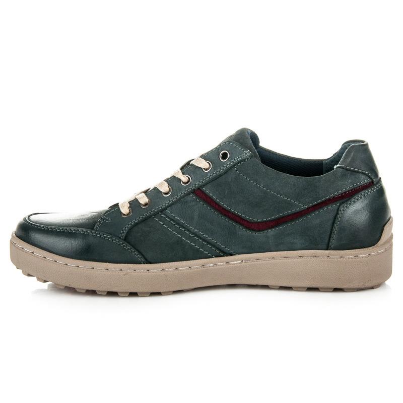 38dbf58ebf03 ... Módne modré pánske športové topánky na pohodlné podrážke ...