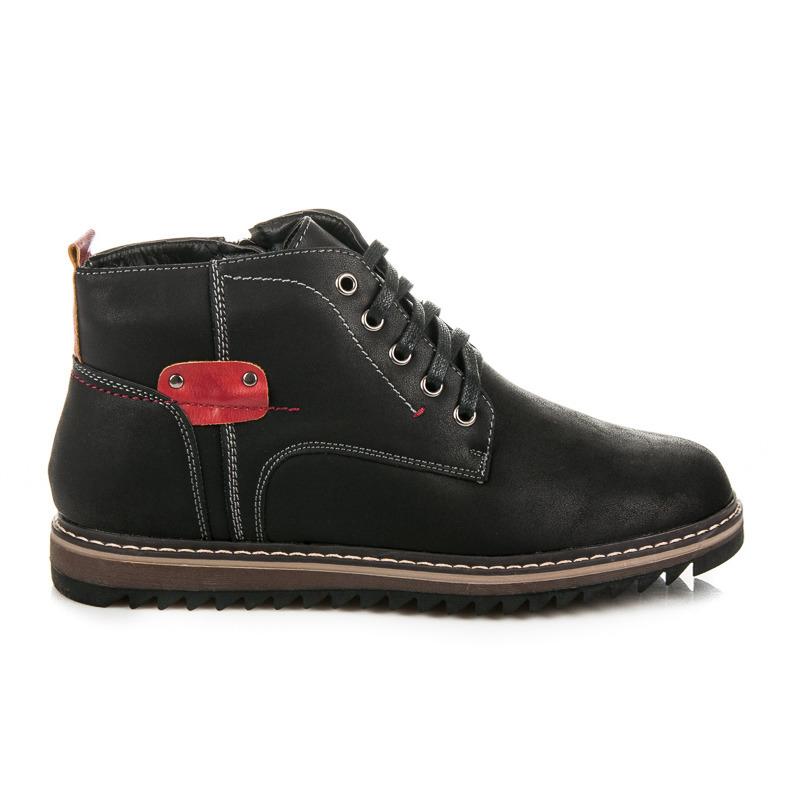 ae90983b79bf Módne pohodlné čierne zimné pánske topánky