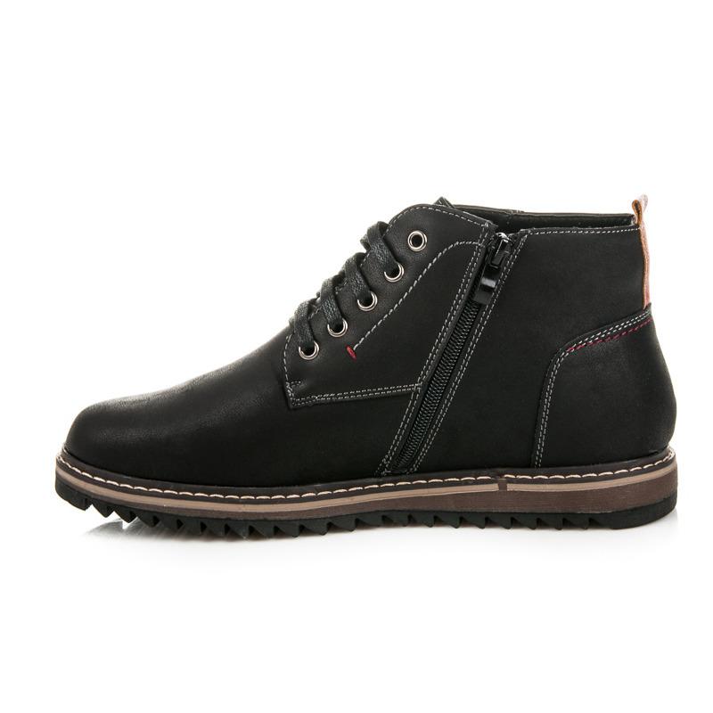 4c9fa3396805 ... Módne pohodlné čierne zimné pánske topánky ...