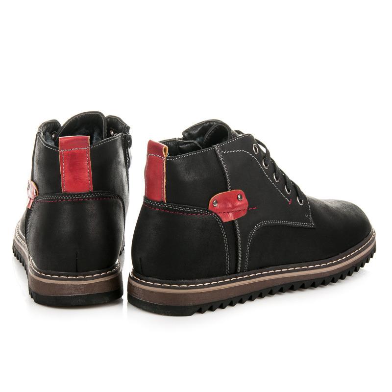 ad035b3e550d ... Módne pohodlné čierne zimné pánske topánky