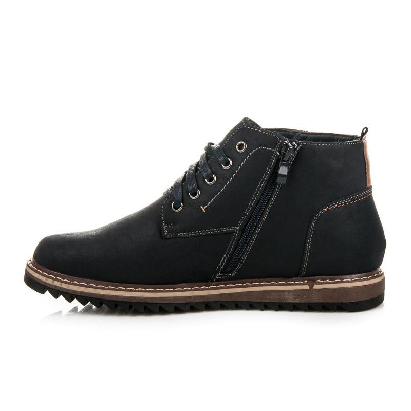 4f23cad97340a Módne pohodlné modré zimné pánske topánky   AMIATEX.sk