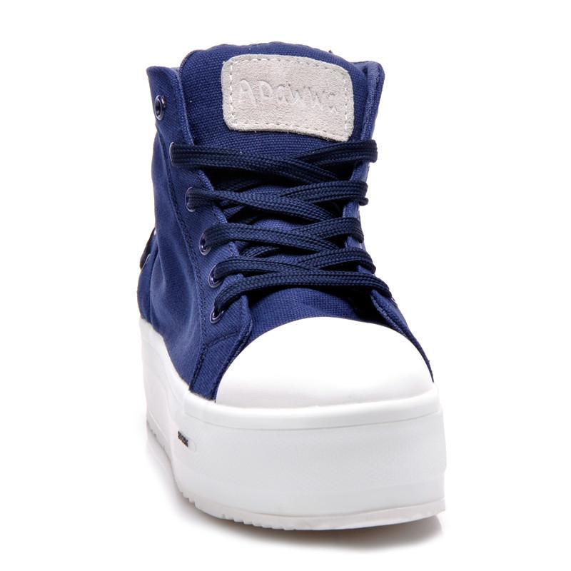 9aa676a2cf Modré členkové tenisky na platforme