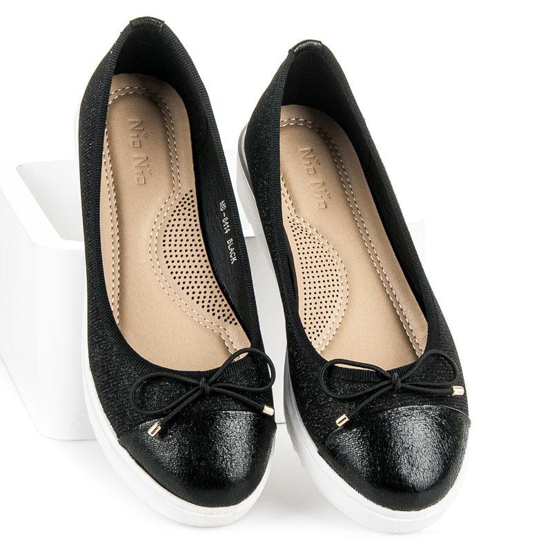 1e5f78a619 Neuveriteľne pohodlné čierne balerínky na platforme