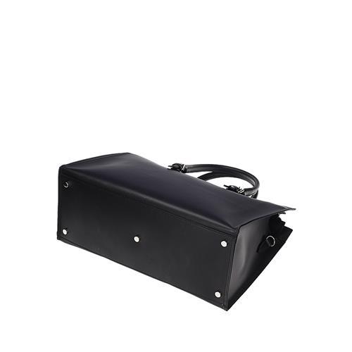 65d5cc7db8 Originálne čierna kožená kabelka do ruky