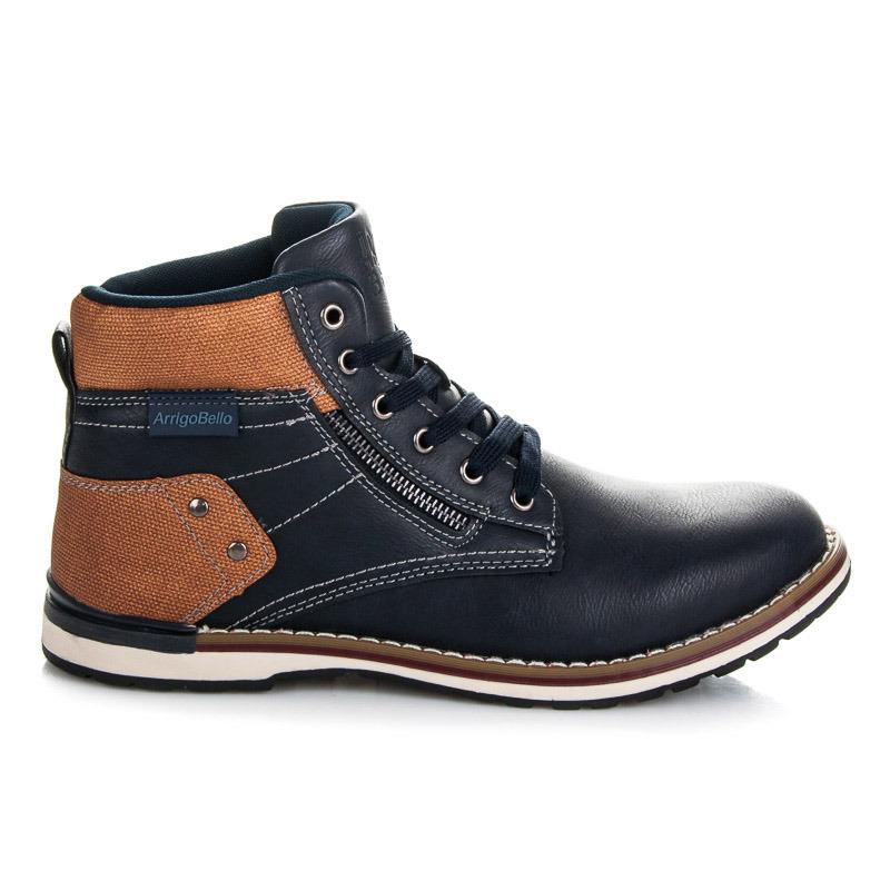 dc4c7c68953e2 Pánske módne členkové topánky s hnedými vložkami   AMIATEX.sk