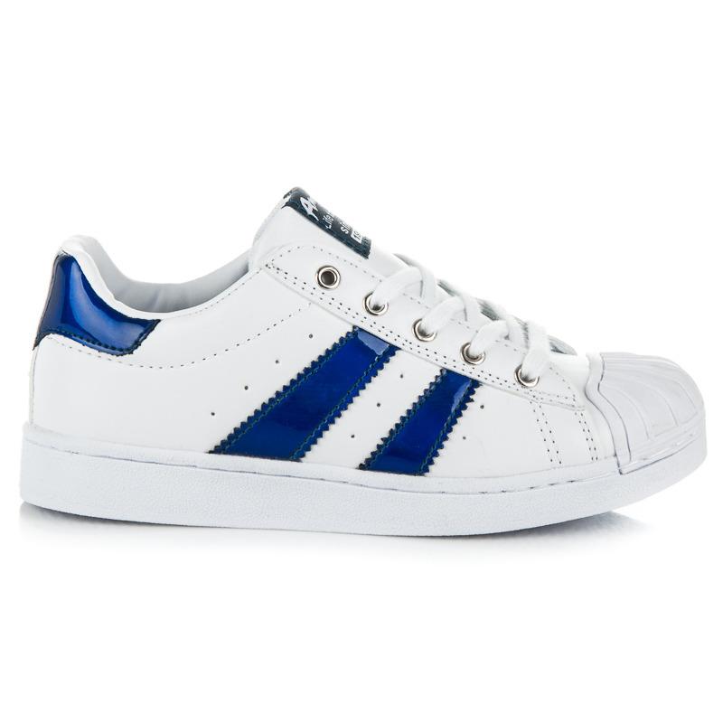 Parádne bielo-modré detské tenisky