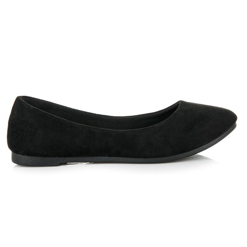 Pohodlné a luxusné čierne baleríny
