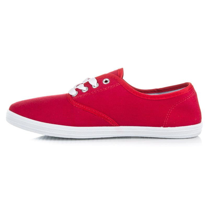 Pohodlné červené tenisky na jar i leto  07992e1b8f3