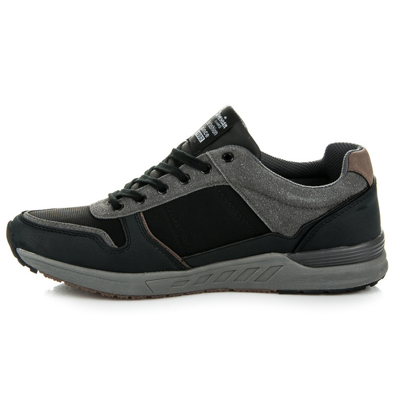 Pohodlné čierne pánske kožené tenisky  faad7aa2c0d