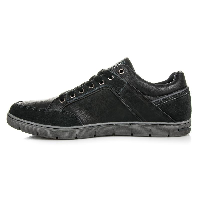 4553acf7c316 Pohodlné čierne pánske športové topánky