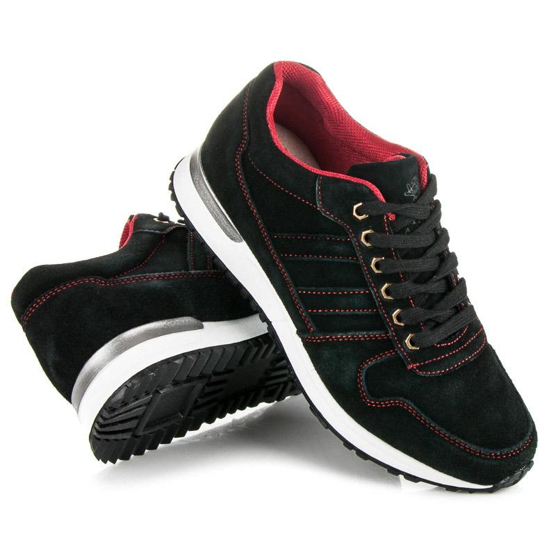 ... Pohodlné čierne pánske športové topánky 39138cd4d87