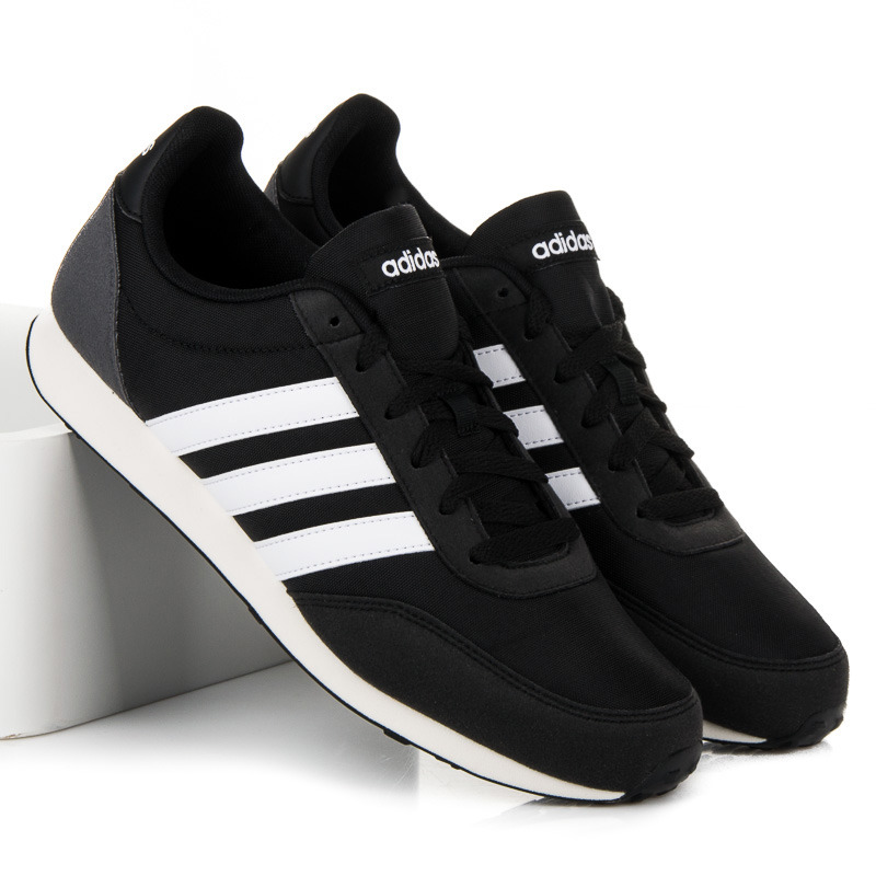 Pohodlné čierne pánske tenisky Adidas V Racer 2.0  fe60f6fdb56