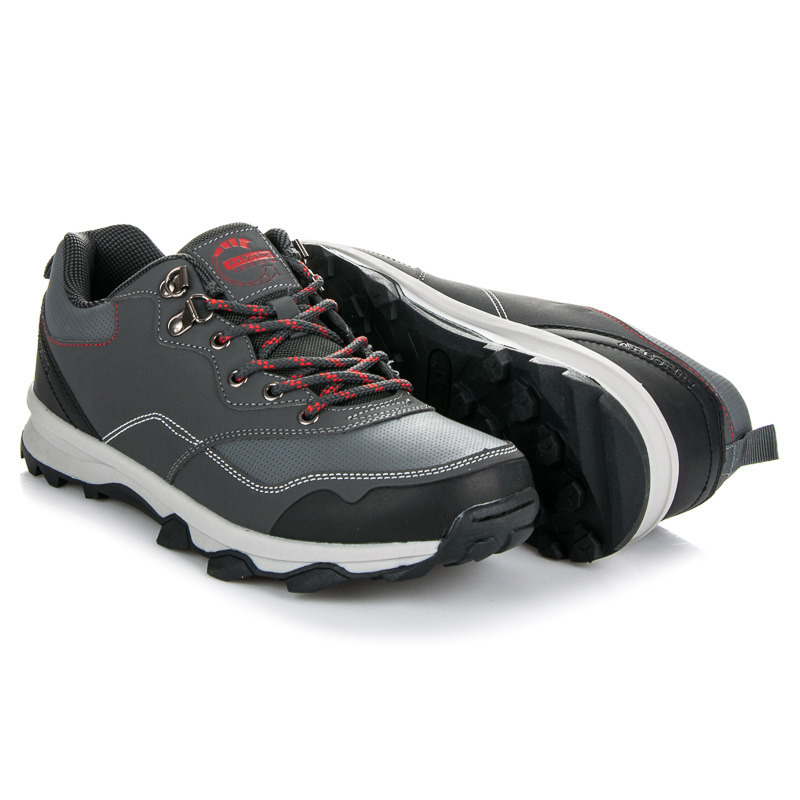 6530fbb71335c Pohodlné šedé pánske športové topánky na šnurovanie   AMIATEX.sk