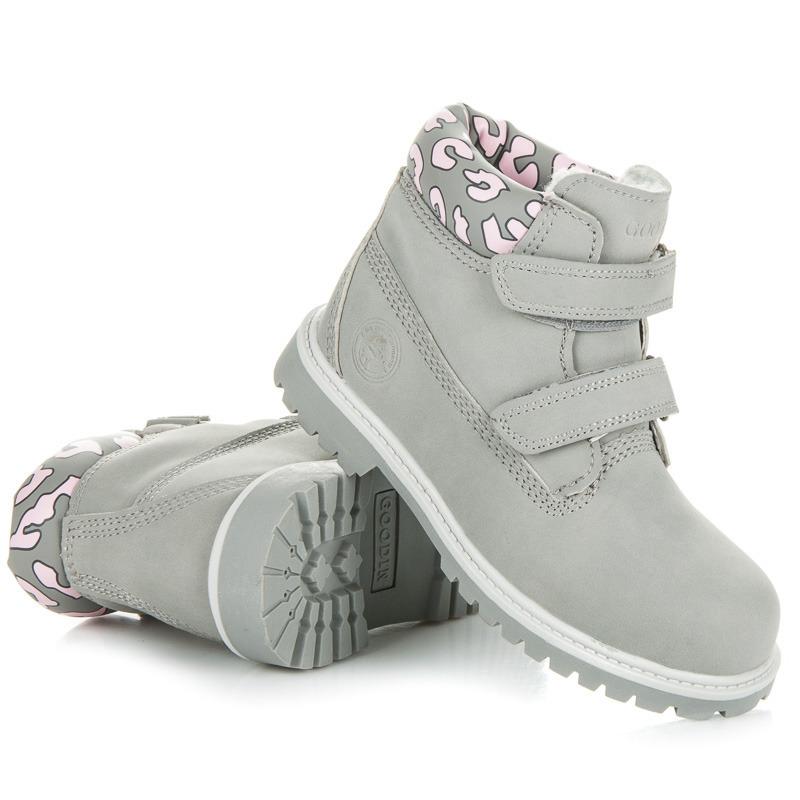 37031cf4a86b Pohodlné sivé detské členkové topánky s ozdobným lemom
