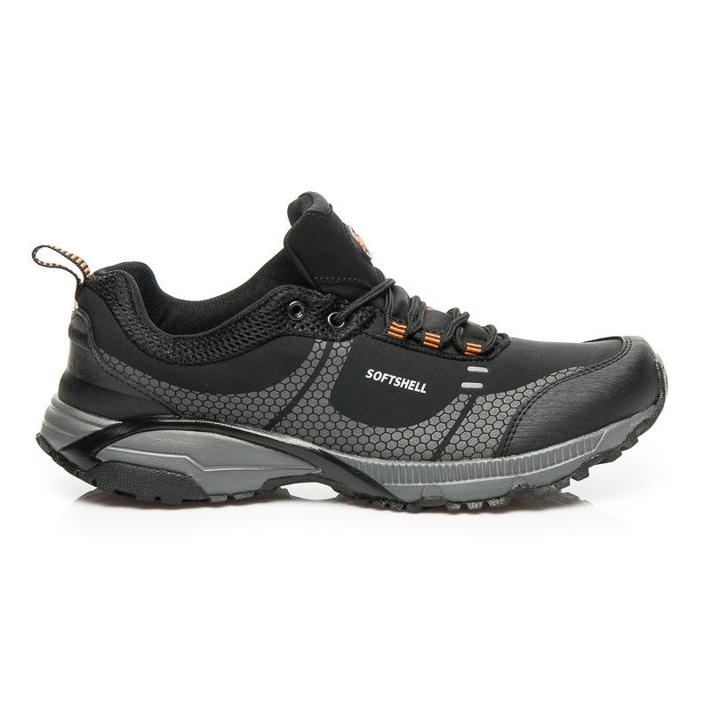 Pohodlné športové čierne pánske športové topánky  1f458852ab0