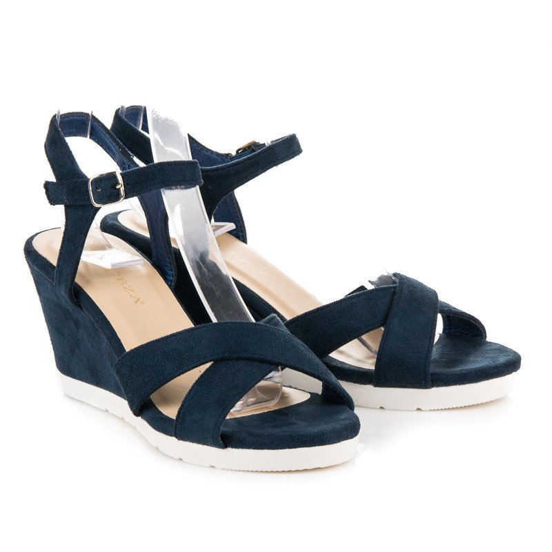 fc21ae13a12c ... Pohodlné tmavo modré sandále na kline