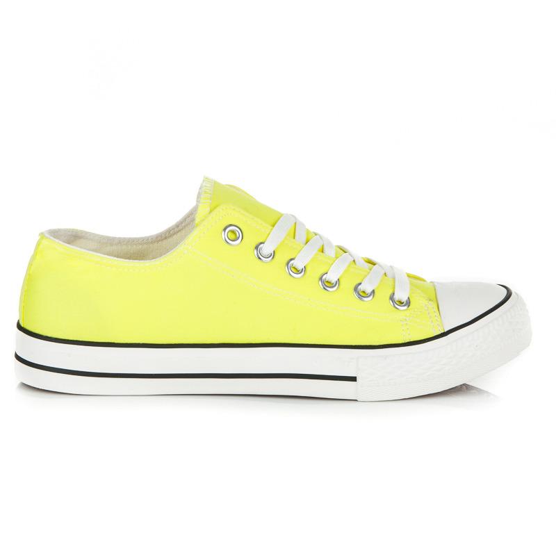 15dab7e3f7 Prekrásne žlté dámske tenisky