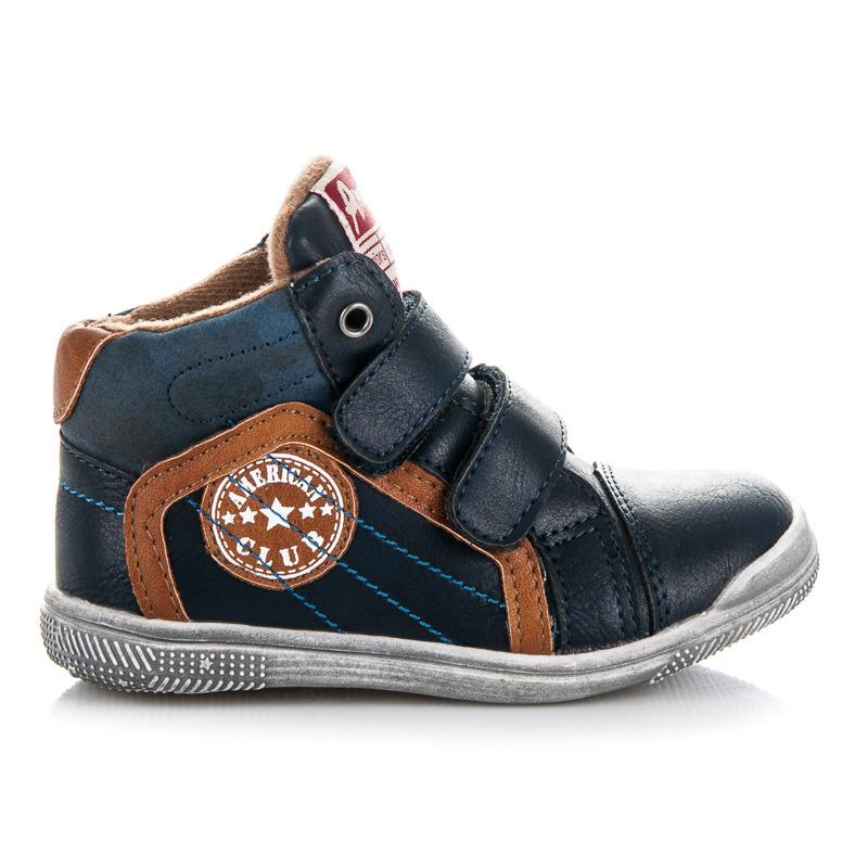 762ca279eed35 Prvotriedne modré chlapčenské členkové topánky na suchý zips ...