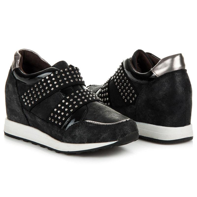7d9a109402 Top or cierne sandalky na podpatku