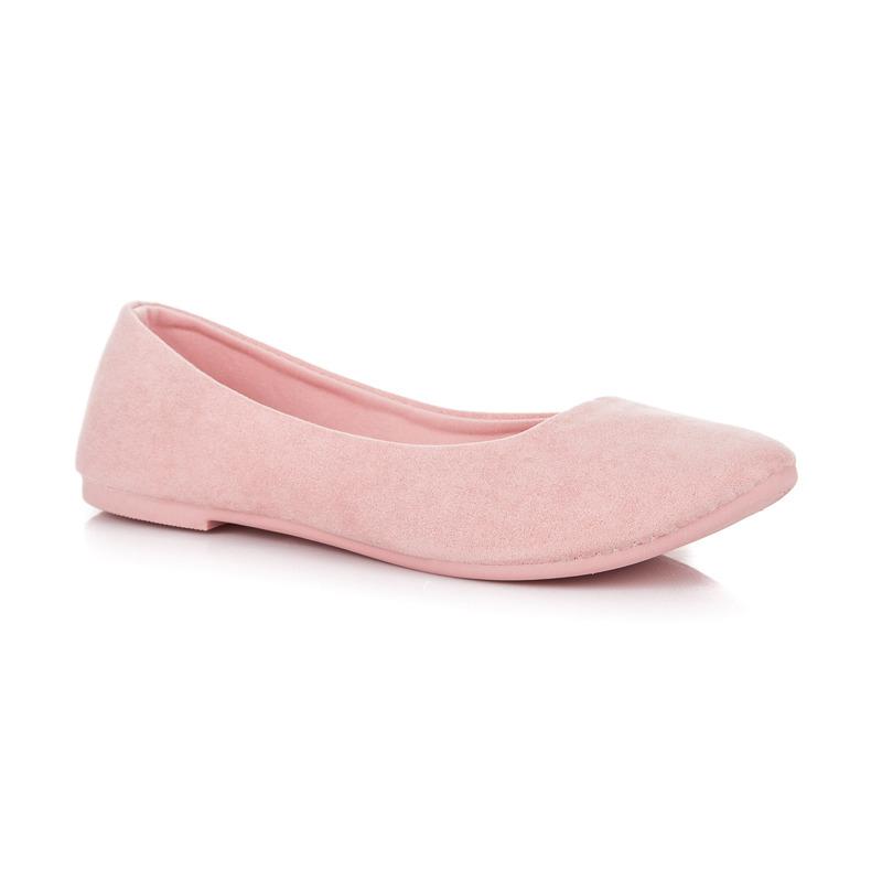 1b964c8b7fbc Rozkošné semišové ružové balerínky