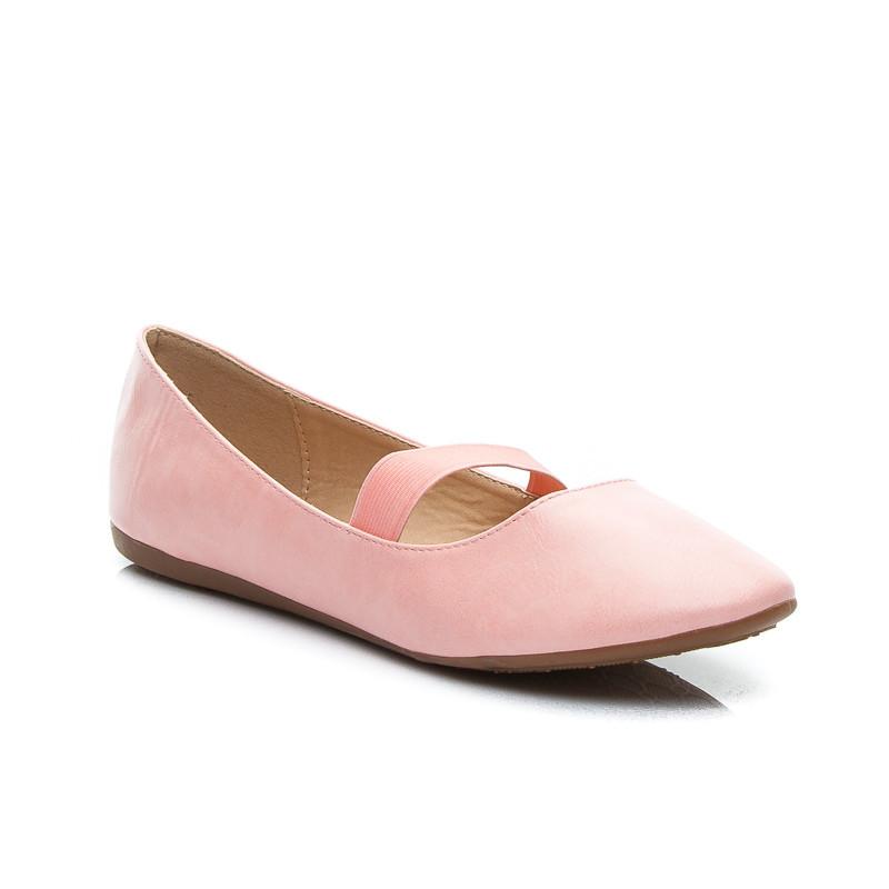 Ružové dámske balerínky