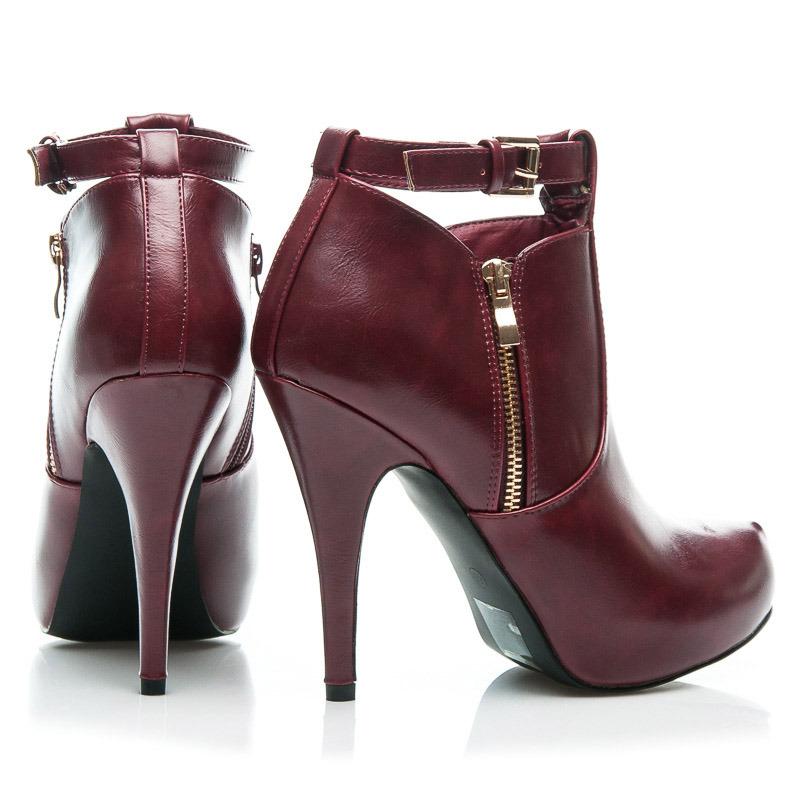 8dbc706e7ad2 ... Sexi dámske červené členkové topánky ...