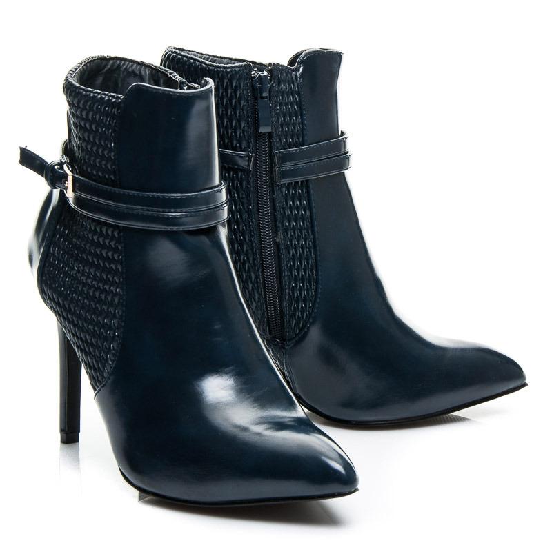 614047ee12e1f Sexi modré dámske členkové topánky | AMIATEX.sk