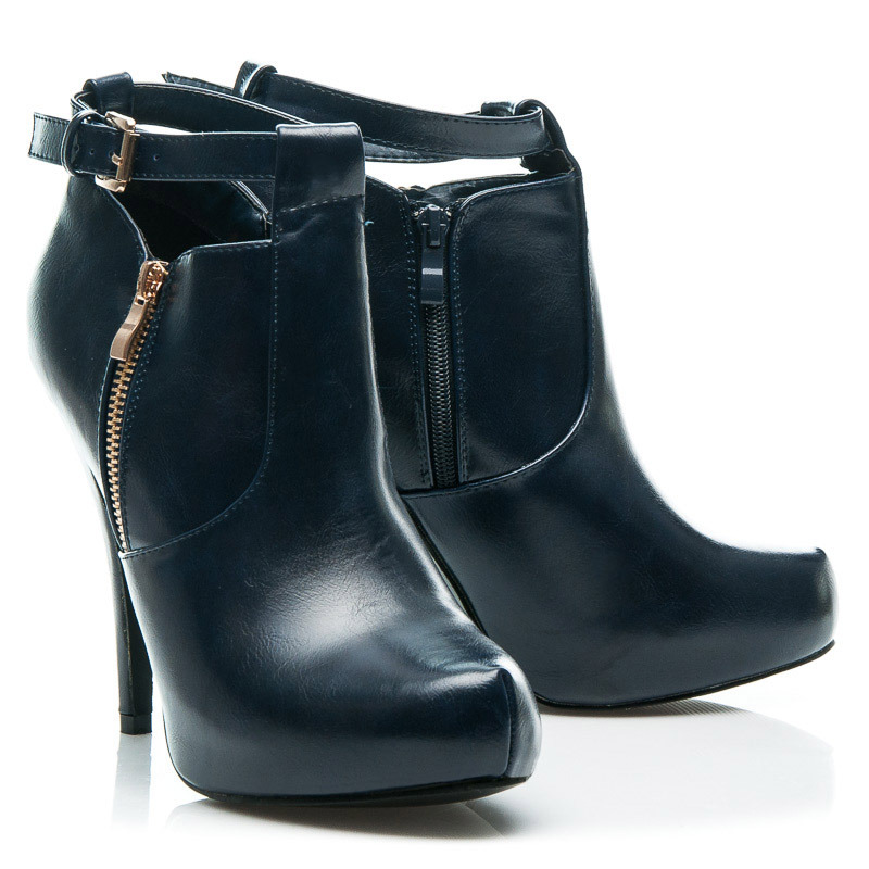 89fcd246103e7 Sexi modré dámske členkové topánky na podpätku | AMIATEX.sk