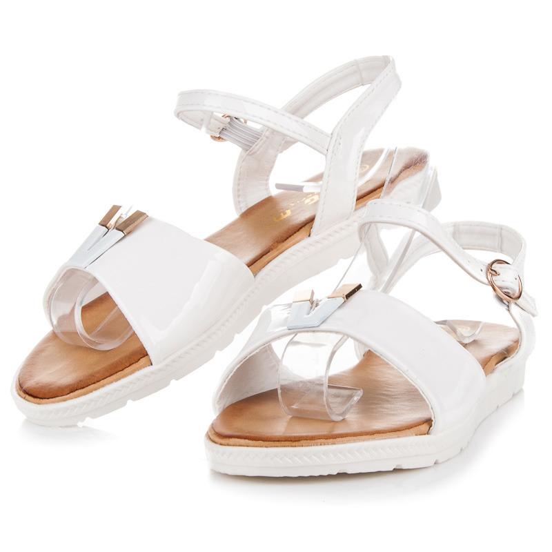 75de5458c86e Skvele biele sandále na platforme