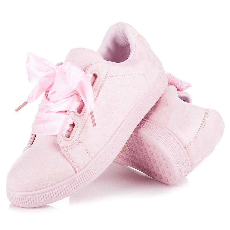 adc61c9dc Skvelé ružové tenisky viazané stužkou | AMIATEX.sk