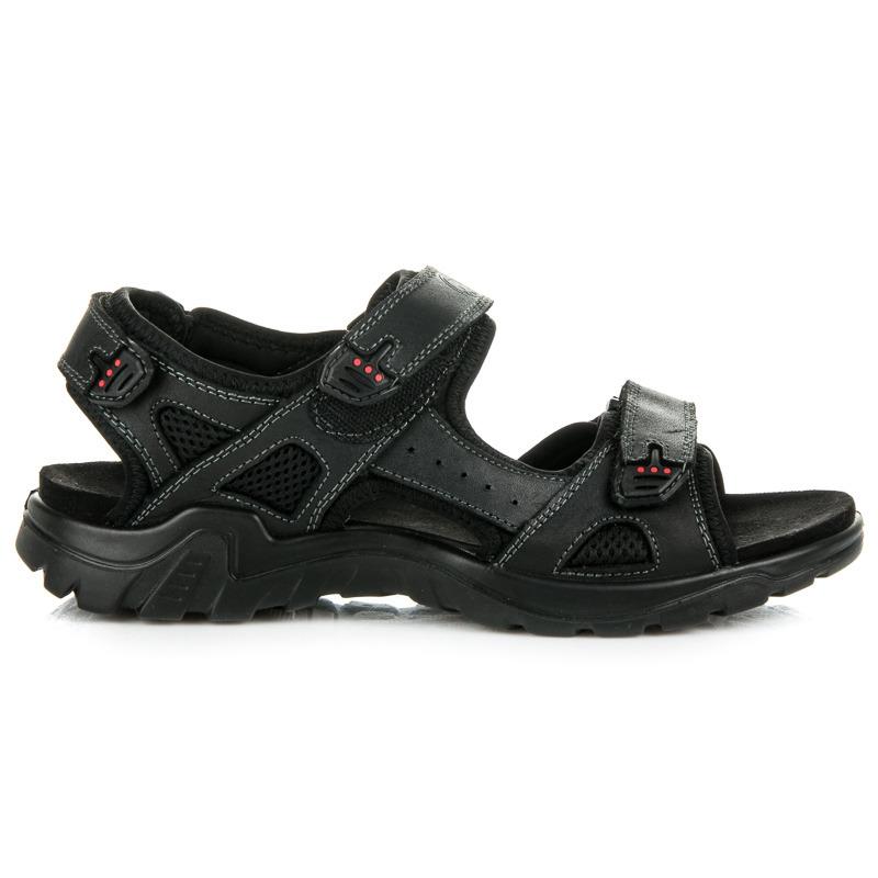 5791ab07bd34 Športové čierne pánske sandále z kože