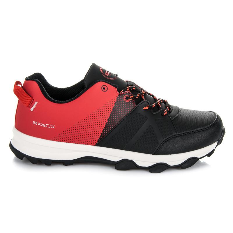 Športové čierno-červené pánske tenisky na šnurovanie  535f2b01487