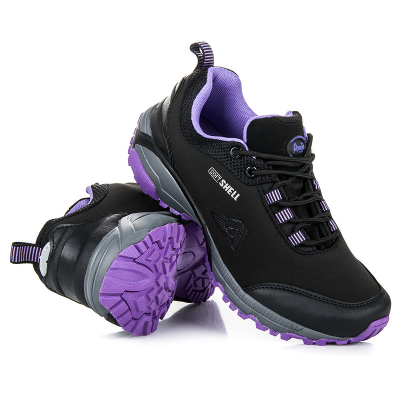 ea81e07b8ce00 Športové čierno-fialové softshellové tenisky | AMIATEX.sk