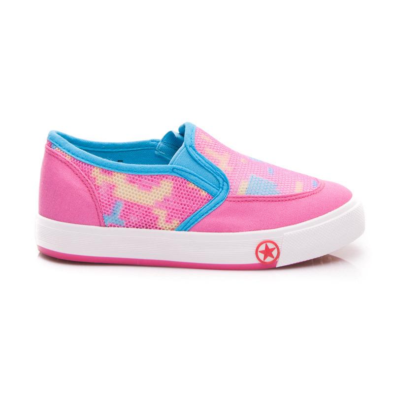 Športové detské topánky - ružovo-modré