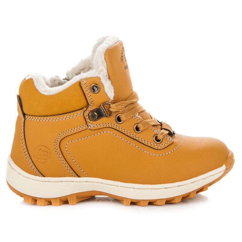 6fa51bafd Športové hnedé detské zimné topánky s kožušinkou | AMIATEX.sk