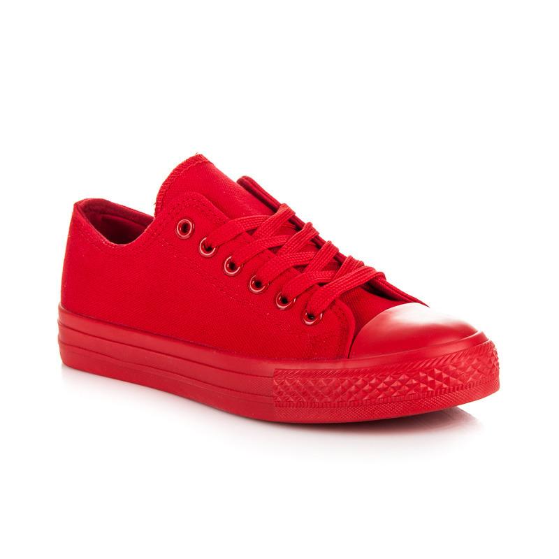 53ffb9cf77 Štýlové a módne červené dámske tenisky