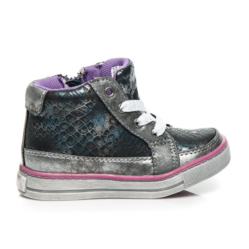 c14b0c6631 Štýlové čierno-šedé dámske športové topánky