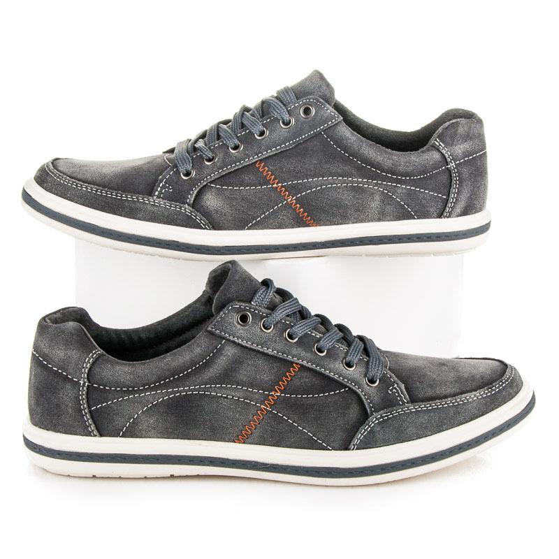 Štýlové šedé pánske športové topánky  7d836283424