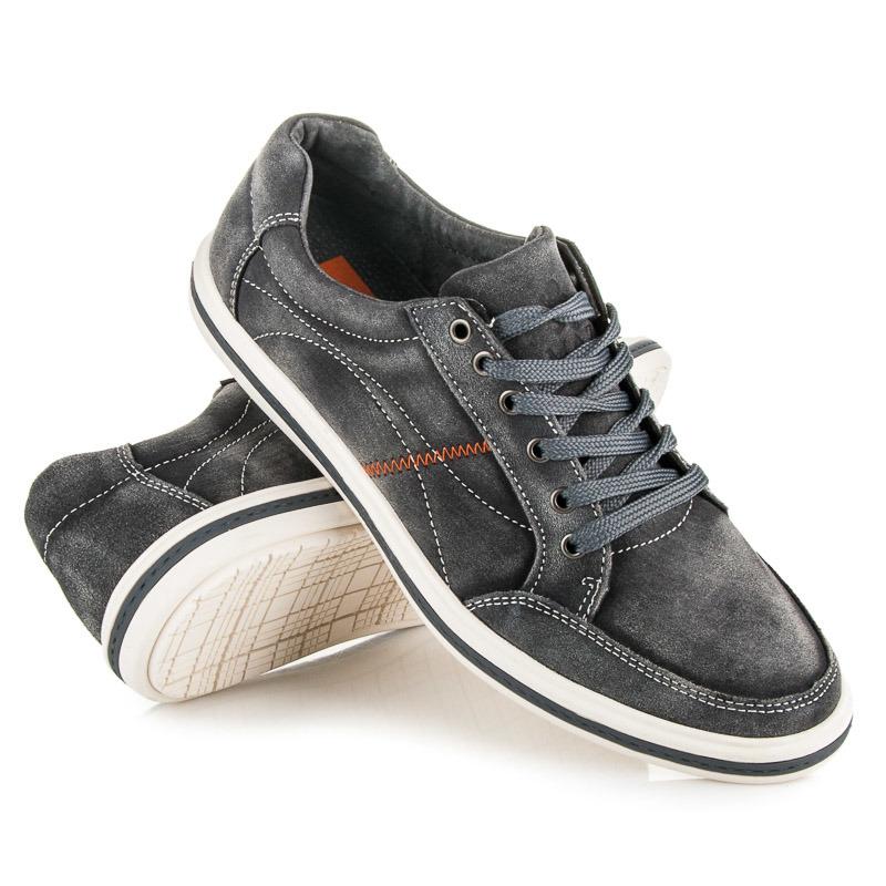 6875d9267c2c ... Štýlové šedé pánske športové topánky