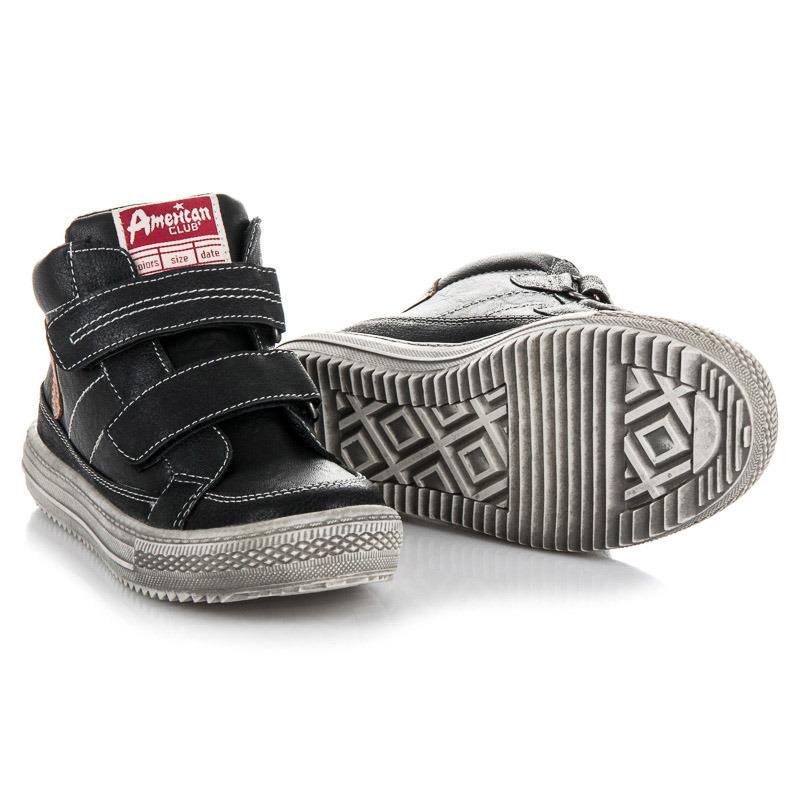 53f833f64e381 Teplé čierne chlapčenské členkové topánky na suchý zips | AMIATEX.sk