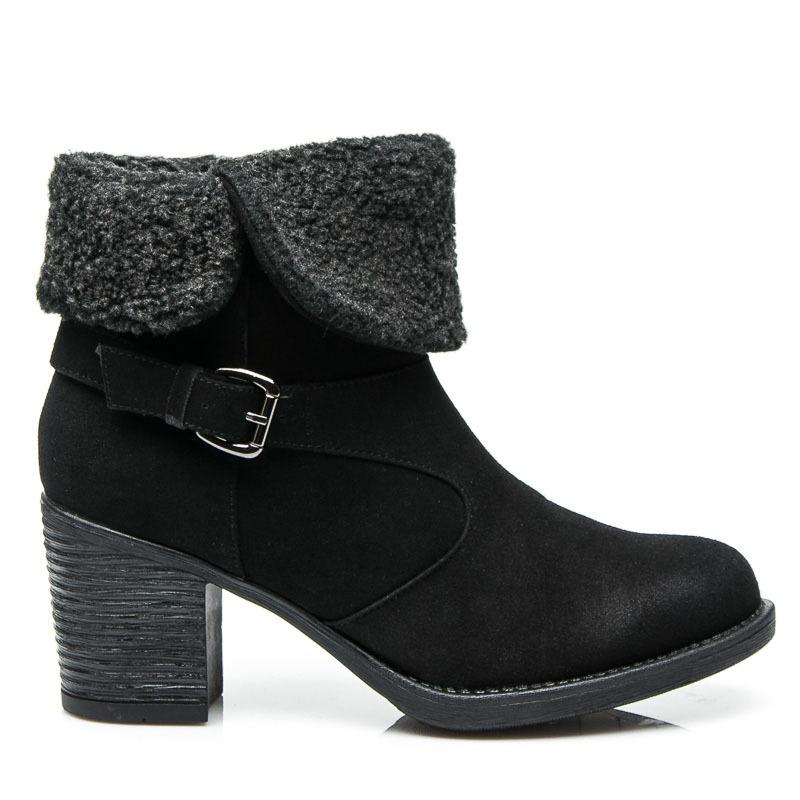 dded89c25d7f0 Teplé čierne dámske členkové topánky | AMIATEX.sk