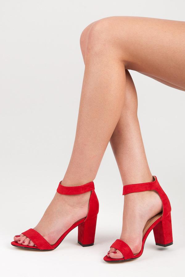 0e75704eacfd Veľmi pohodlné a elegantné červené sandále na suchý zips