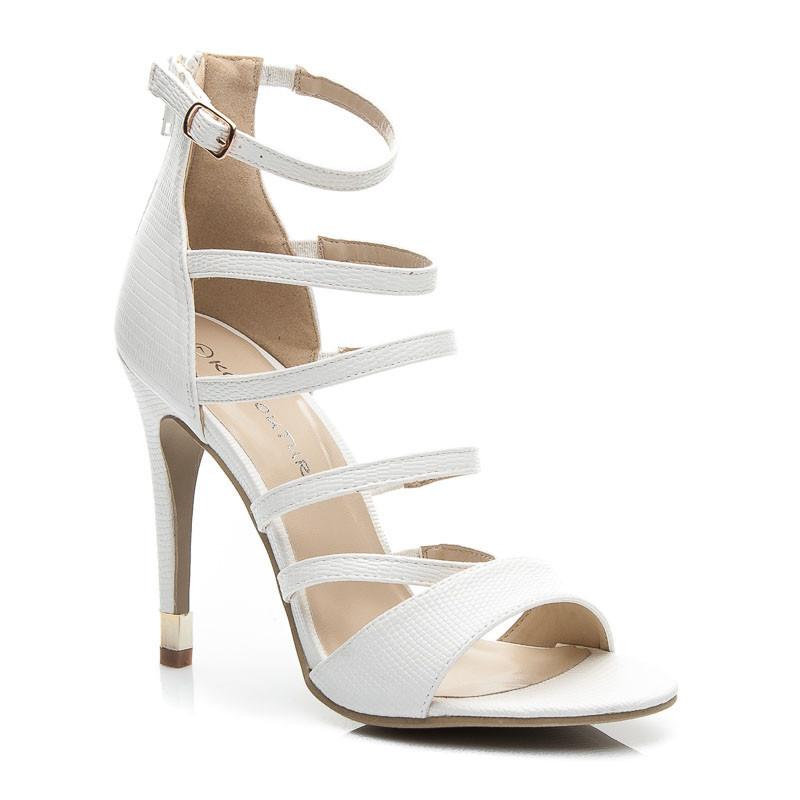 44c3233c6a Vysoké biele dámske sandále